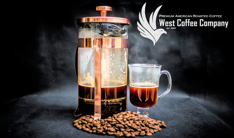 West Coffee Company French Press Tips. Premium American Roasted Coffee. Roasted in Small batches in Texas. Coffee grown in America