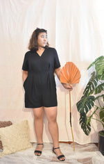 Load image into Gallery viewer, Plus Size Black Romper