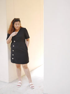 Cloudy Swiss Dots Dress (Black)