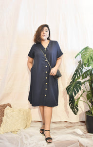 Plus Size Midi Dress Blue
