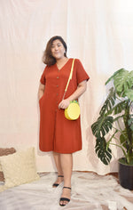 Load image into Gallery viewer, Plus Size Midi Dress Red