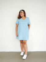 Load image into Gallery viewer, Plus Size Denim Shift Dress