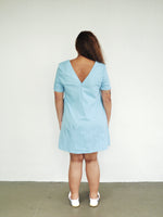 Load image into Gallery viewer, Plus Size Light Denim Shift Dress