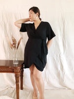 Load image into Gallery viewer, Plus Size Wrap Mini Dress