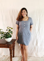 Load image into Gallery viewer, Plus Size Square Neck Mini Dress