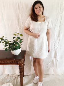 Plus Size Square Neck Mini Dress