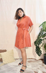 Load image into Gallery viewer, Plus Size Wrap Maxi Dress Orange Red
