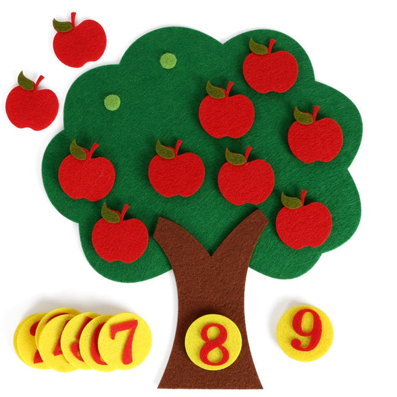 Montessori Math Toy Apple Trees