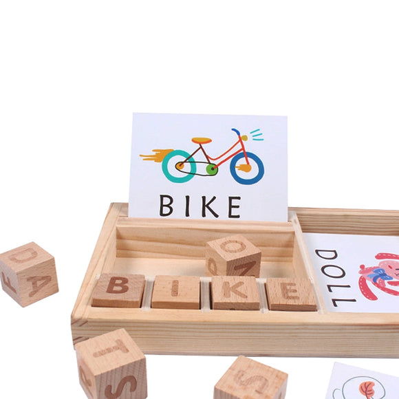 Wooden Cognitive Puzzle Cards and Cubes