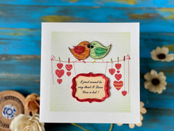 "Quilling Card - 6""x 6"" - love008"
