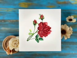 Quilling Card - Rose 001
