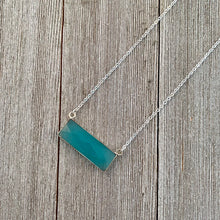 Load image into Gallery viewer, Blue Quartz Pendant / Small Silver Chain