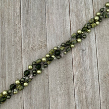Load image into Gallery viewer, Shades of Green Multi-Strand Necklace