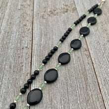 Load image into Gallery viewer, Black & Green Double Strand Bracelet
