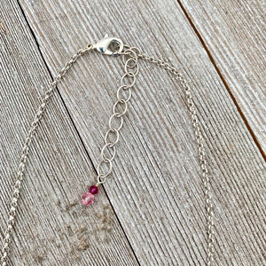 Swarovski Crystal Heart Lariat Necklace