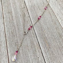 Load image into Gallery viewer, Swarovski Crystal Heart Lariat Necklace