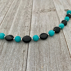 Black and Teal Bracelet