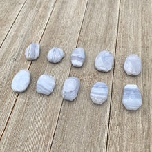 Load image into Gallery viewer, Blue Lace Agate, Large Bead, Pendant, Faceted, For Beading, Stringing, Jewelry Making, Crafts, DIY
