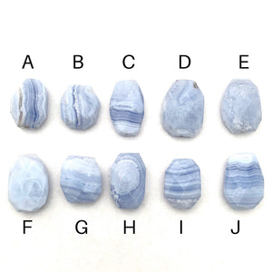 Blue Lace Agate, Large Bead, Pendant, Faceted, For Beading, Stringing, Jewelry Making, Crafts, DIY