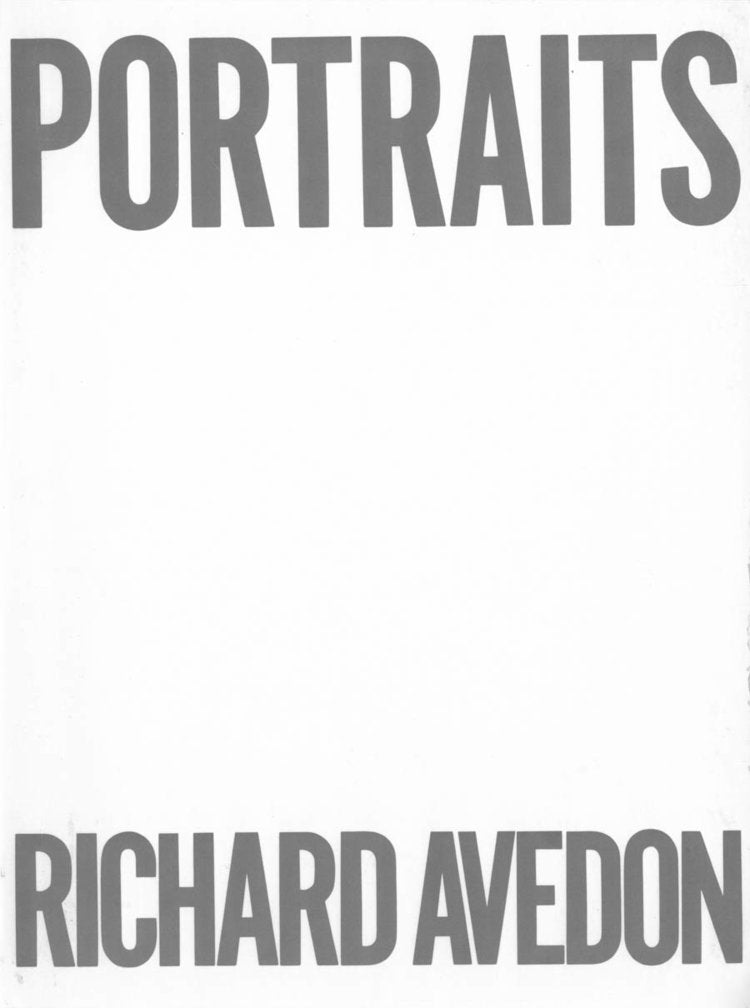 Portraits by Richard Avedon