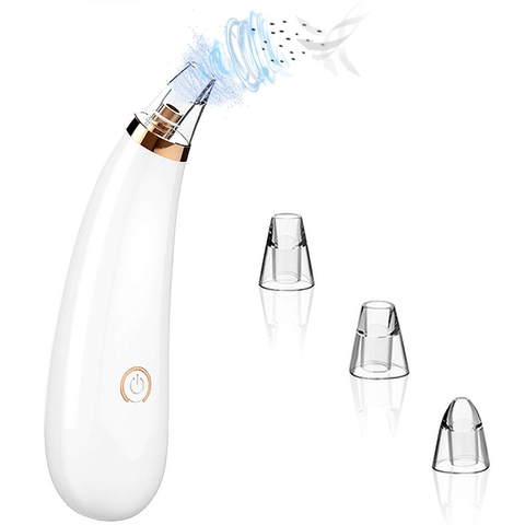 Blackhead Remover Vacuum - 2020 Upgraded Blackhead Suction Tool with Hot Compress - USB Rechargeable Pore Vacuum-Facial Pore Cleanser Suction Tool with LED Display-Suction Force for All Skin.