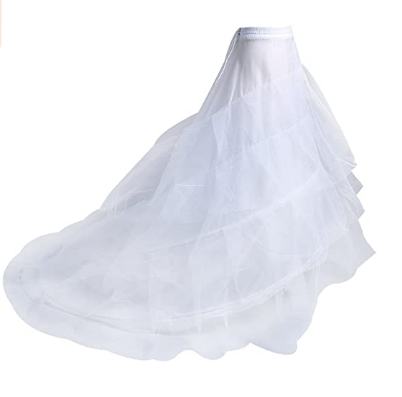 Make you perfect Hoop Skirt Petticoat Skirt for Women Ball Gown Slip Crinoline Underskirt 5 Ruffles 4 Hoop¡­