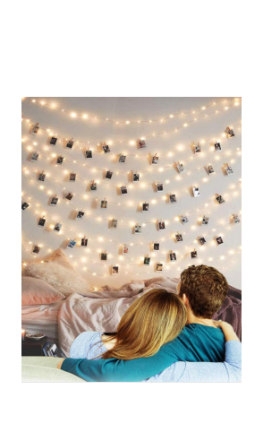 LED Photo Clip String Lights Battery Powered Fairy Lights Picture Lights Dorm Lighting Hanging Artwork Photos Memos Paintings for Home Birthday Wedding Party Christmas Decor (20 LED, Warm White)