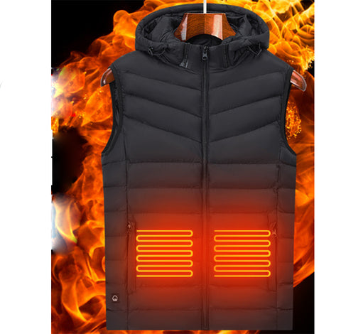 Heated Vest for Men and Women USB Charging Electric Lightweight Size Adjustable Heated Jacket for Outdoor Motorcycle Travel Riding Golf Hunting Hiking