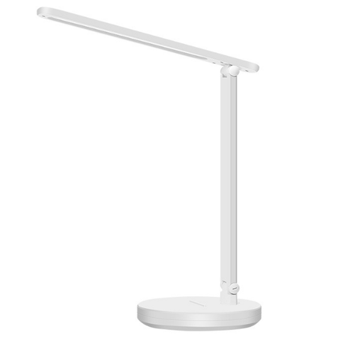 LED Desk Lamp, Eye-caring Table Lamps, Dimmable Office Lamp with USB Charging Port, 3 Lighting Modes with 7 Brightness Levels, Touch Control, White