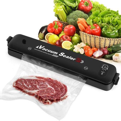Vacuum Sealer Machine, 2020 Upgraded Automatic Food Sealer Machine, Automatic Food Sealing Machine Vacuum Air Sealing System for Food Storage and Food Preservation (with 15 Sealed Bags)