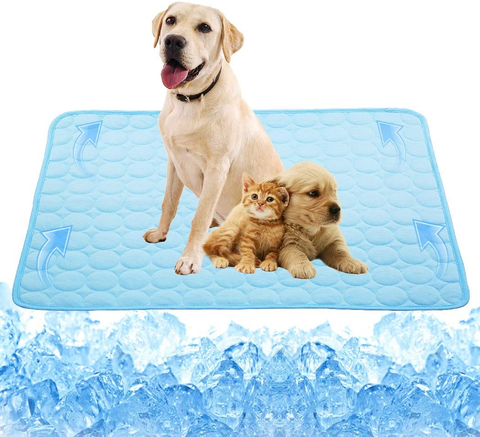 Pet Cooling Mats for Dogs Cooling Pad Cool Dog Bed Mats Cat Bed Mats Self Cooling Mat Pad for Kennels, Crates and Beds Avoid Overheating No Need to Freeze