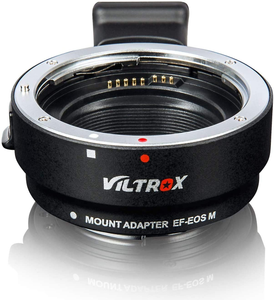Lens Adapter EF-EOS M Auto-Focus Lens Converter Ring for Canon EF/EF-S Lens to Canon EOS-M (EF-M Mount) Mirrorless Camera EOS M1 M2 M3 M5 M6 M10 M50 M100