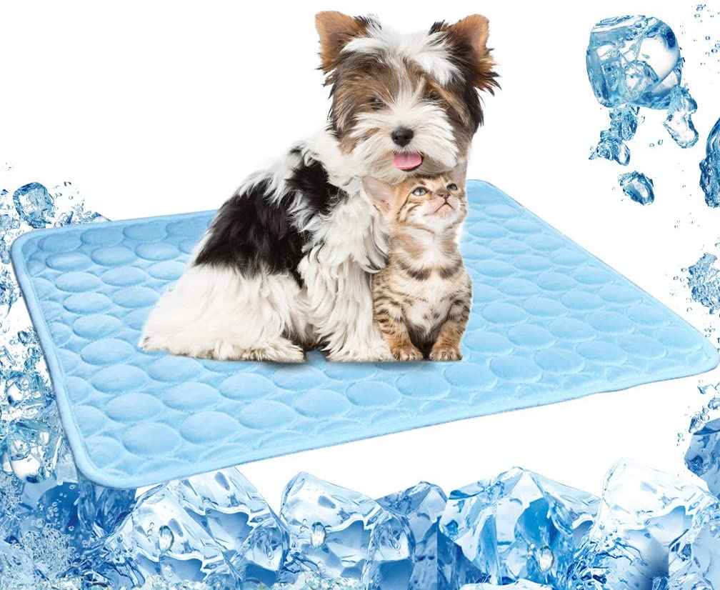 Pet Cooling Pads for Dogs Cats Ice Silk Folding Cooling Mats Summer Breathable Mats