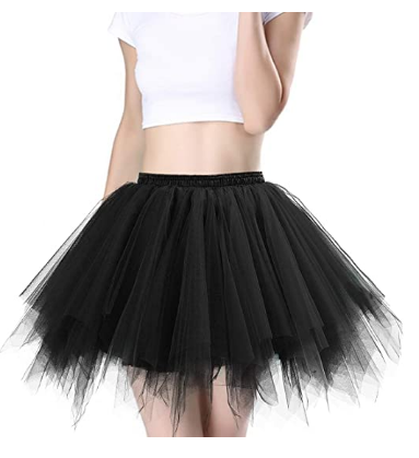 Women's Tutu Skirt 1950s Vintage Ballet Bubble Dance Skirts for Cosplay Party Petticoat Dance Skirt
