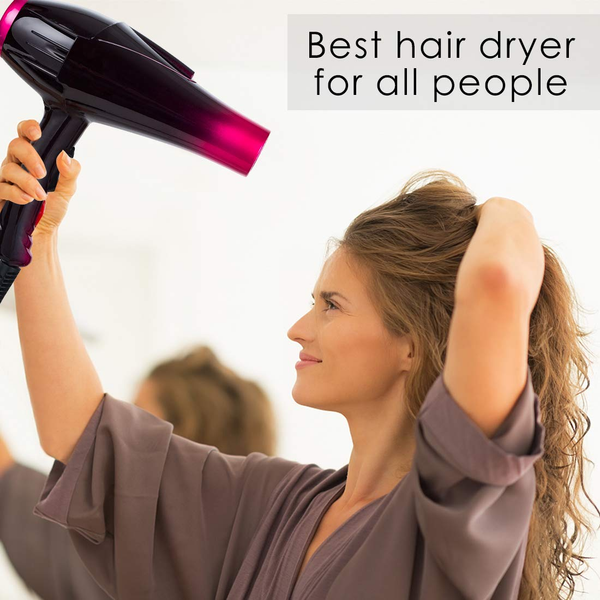 Professional Hair Dryer Powerful 3500 Watt Blow Dryer Salon Ceramic Tourmaline Ionic High Power Blow Dryer,Quick Dry Hair Dryers with AC Motor 2 Concentrator Diffuser Attachments