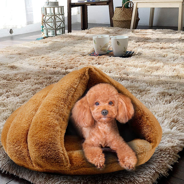 Cat Cave Small Dog Bed Cave Self Warming Cat Bed Fleece Cat Bed Cave Dog Cave Warm Pet Cave for Indoor Small Dogs and Cats