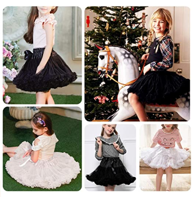 Baby Girl Tutu Skirt Ballet Pettiskirts Toddler Soft Tulle Fluffy Petticoat Dance Princess Dress