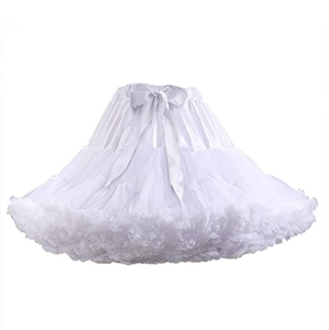 Women's Petticoats Tulle Skirts Half Slips Umderskirt Tutu Ruffled Ballet Dress