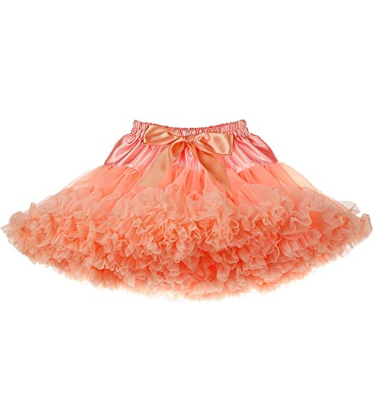 Girls Tutu Skirt Fluffy Soft Tulle Skirt Princess Ballet Skirt Tutu Pettiskirt(3-10T)