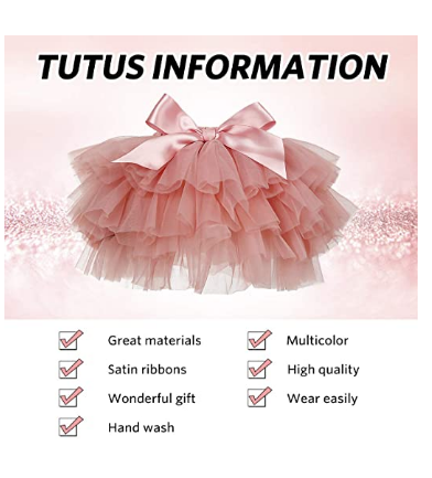 Baby Girls Soft Fluffy Tutu Skirt with Cotton Diaper Cover Girl Tutu Skirt Sets Flower Headband Toddler Ruffle Tulle Bloomers