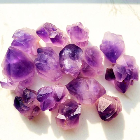 High Quality Natural Crystal Quartz Tumbled Stone Amethyst Cluster Gemstone Gravel Purple Amethyst Tumbled Stone For Healing 20-40mm