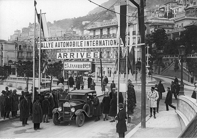 1929: Rally finish line in Monaco