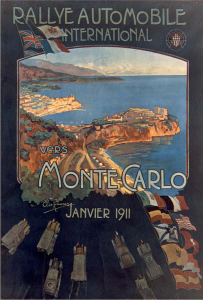 1911 poster for the inaugural rally by Elio Ximenes Ettore