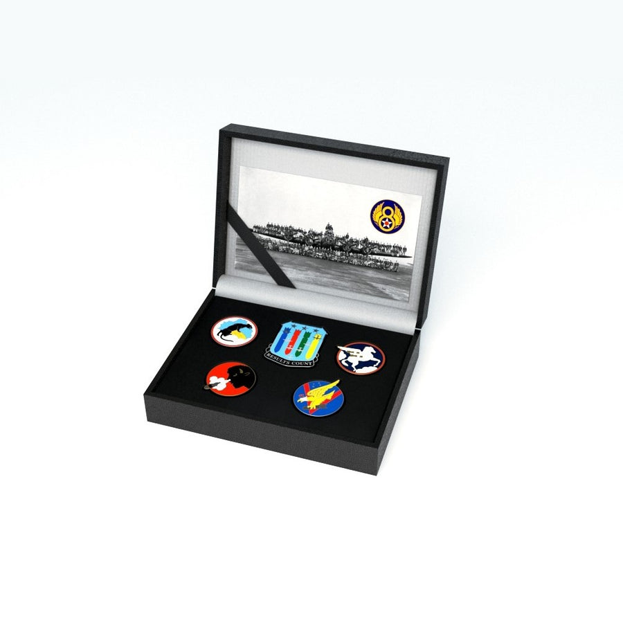 94th Bomb Group Limited Edition Enamel Badge Set
