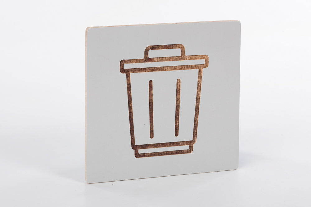 Recycle bin sign G