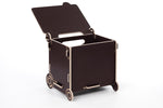 Table bin dark brown