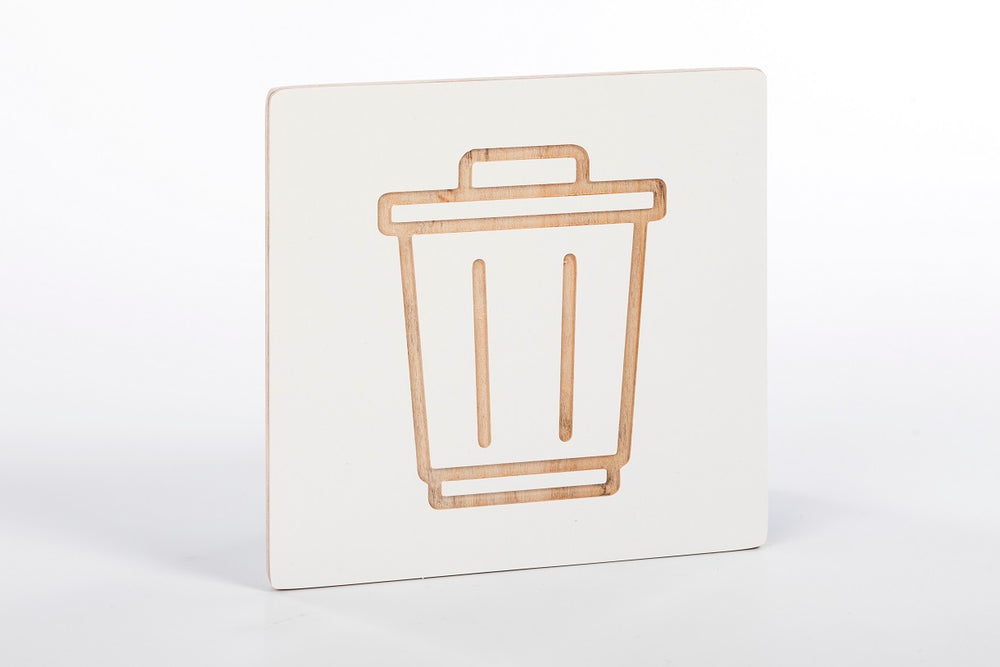 Recycle bin sign W
