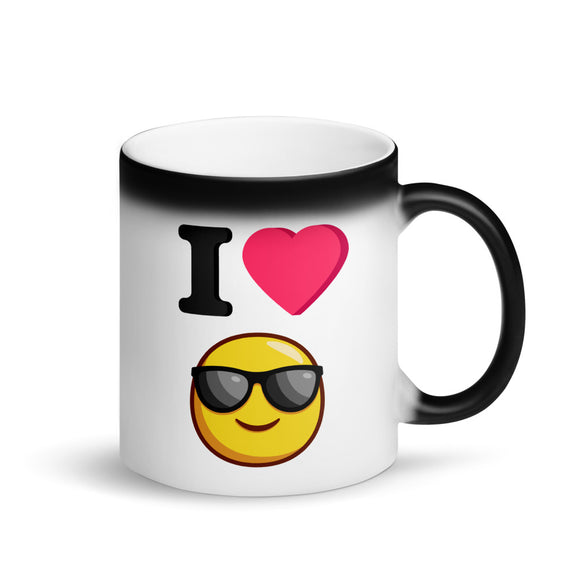 I Heart Sunglasses Magic Color Changing Mug