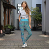 Teal Cool Glasses Yoga Leggings