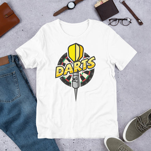 Darts Mens Short-Sleeve Unisex T-Shirt | Darts Funny Novelty Tee - Hamsah Darts